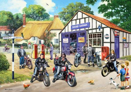 Rockers on the Road Wallpaper Wall Murals