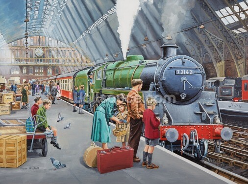 St Pancras in the 50's Wallpaper Wall Murals