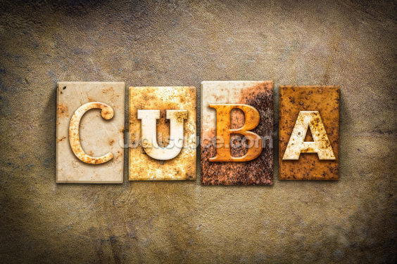 Industrial Cuba Sign Wallpaper Wall Murals