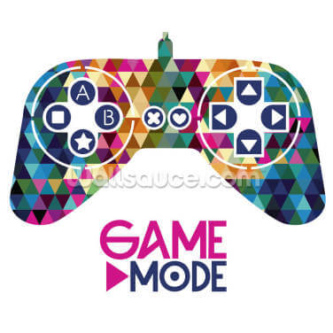 Colourful Game Mode Wallpaper Wall Murals