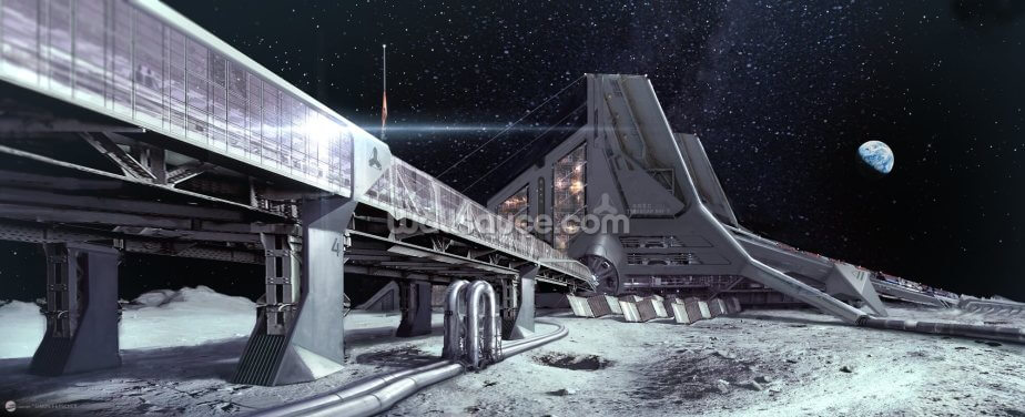 PO Lunar base 2 Wallpaper Wall Murals