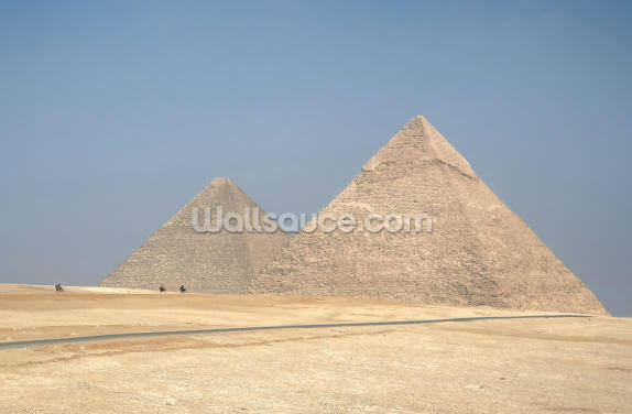 Riding from the Pyramids Wallpaper Wall Murals