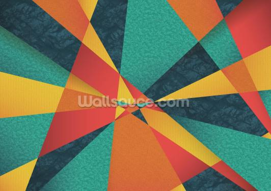 Colour Web Geometric Wallpaper Wall Murals