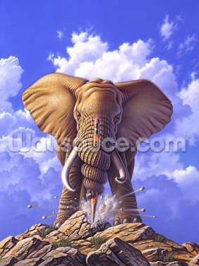 Elephant and Pencil by Jerry LoFaro Wallpaper Wall Murals