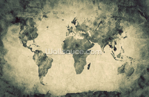 Ancient World Map Sketch Wallpaper Wall Murals
