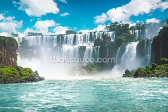 Iguazu Waterfalls in Brazil Wallpaper Wall Murals