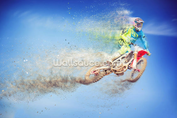 Motocross Dissolves Wallpaper Wall Murals