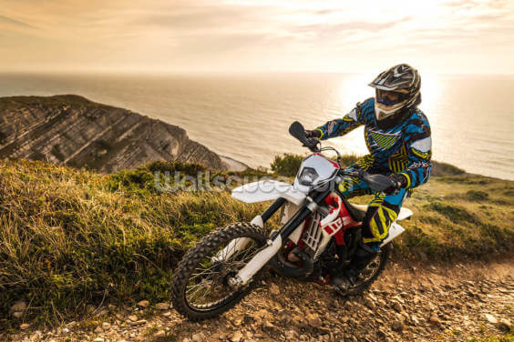 Enduro bike rider Wallpaper Wall Murals