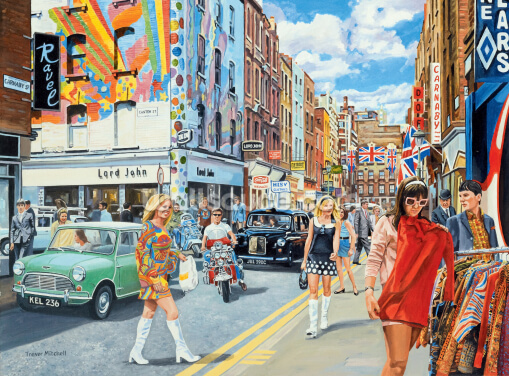 Carnaby Street in the 60s Wallpaper Wall Murals