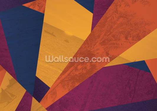 Holiday Geometric Wallpaper Wall Murals