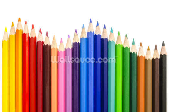 Colored Pencils Making a Wave Wallpaper Wall Murals