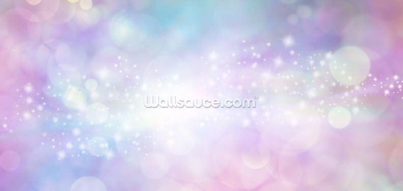 Pink and Blue Starry Glitter Wallpaper Wall Murals