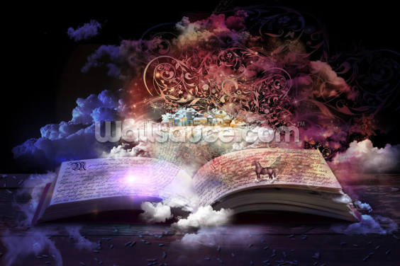 Magic Book Wallpaper Wall Murals
