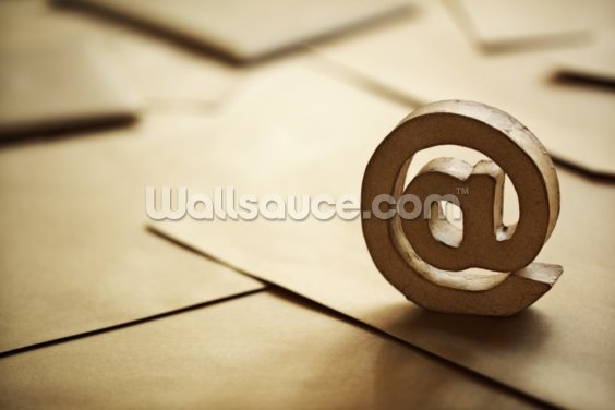 E-mail @ symbol Wallpaper Wall Murals