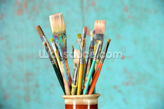 Artists Paintbrushes Wallpaper Wall Murals