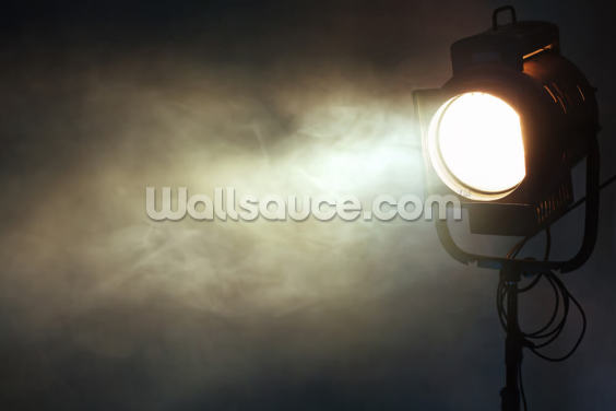 Theater Spotlight with Smoke Wallpaper Wall Murals