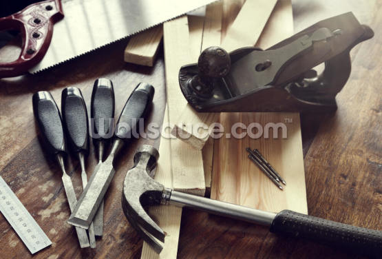 Woodwork Tools Wallpaper Wall Murals