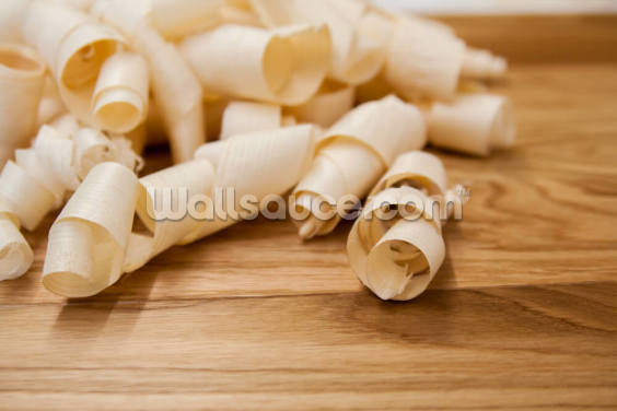 Wood Shavings Wallpaper Wall Murals