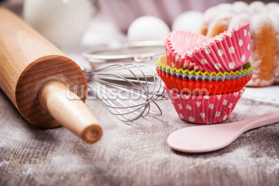 Baking Utensils Wallpaper Wall Murals