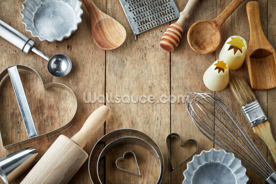 Kitchen Utensil Wallpaper Wall Murals