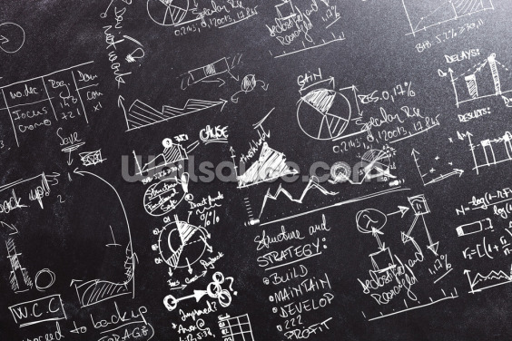 Graphs and Calculations Wallpaper Wall Murals