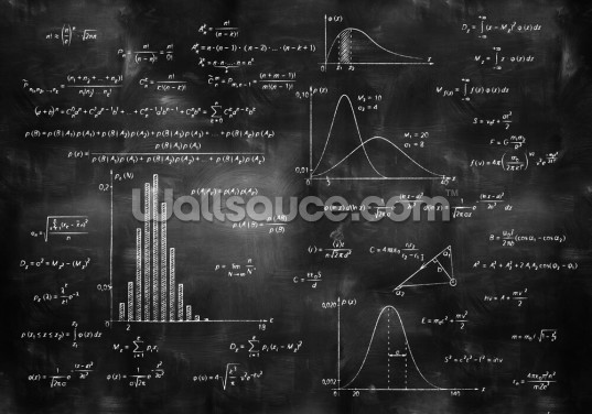 Math Physics Formulas on Chalkboard Wallpaper Wall Murals