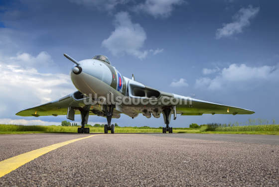 Avro Vulcan Bomber on Taxiway Wallpaper Wall Murals