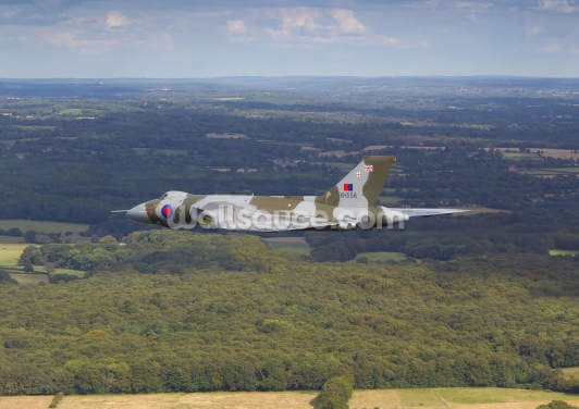 Avro Vulcan Bomber over Countryside Wallpaper Wall Murals