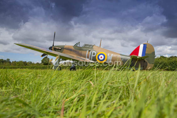 Battle of Britain Hurricane on the grass Wallpaper Wall Murals