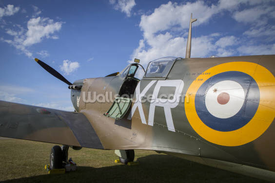 Supermarine Spitfire up close Wallpaper Wall Murals