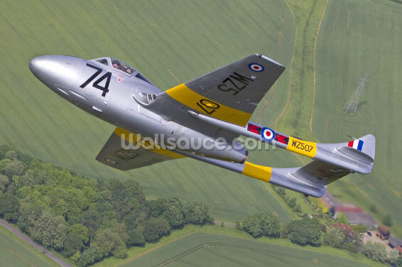 De Havilland Vampire Jet Trainer Wallpaper Wall Murals