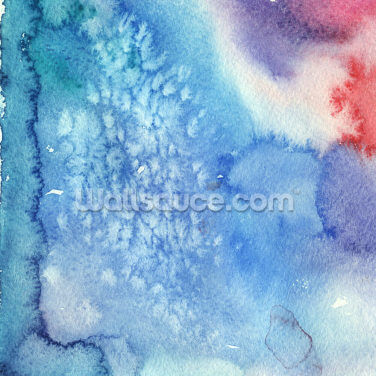 Blue Crystal Pattern Watercolor Wallpaper Wall Murals