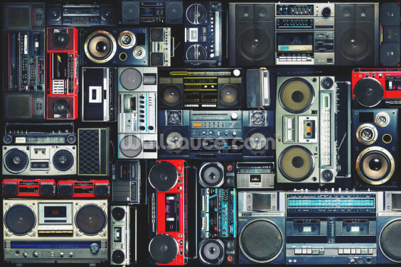 Boombox Wallpaper Wall Murals