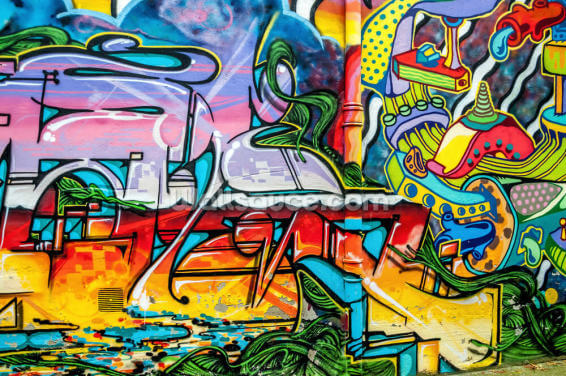 Colourful Graffiti Mural Wallpaper Wall Murals