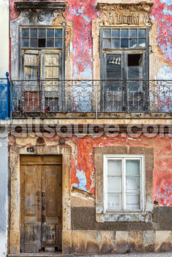 Old Portuguese House Facade Wallpaper Wall Murals