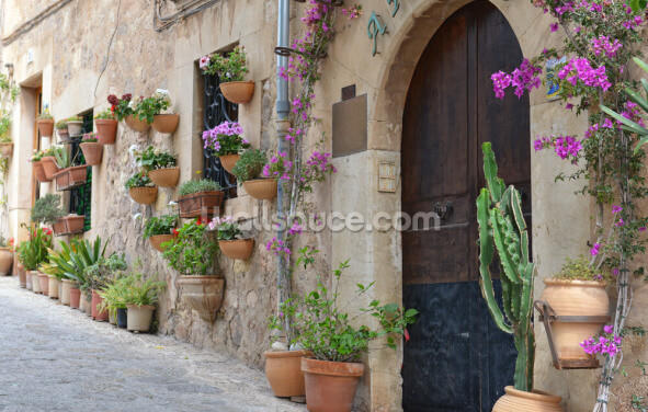 Mediterranean Village House Wallpaper Wall Murals
