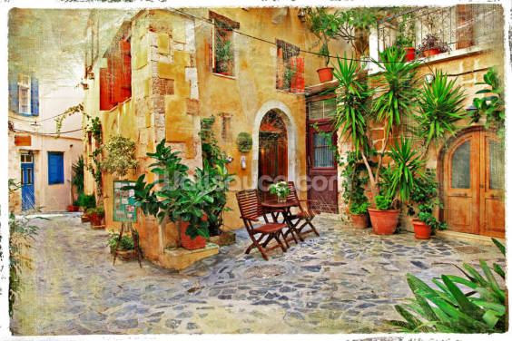 Chania,Crete- old charming streets Wallpaper Wall Murals