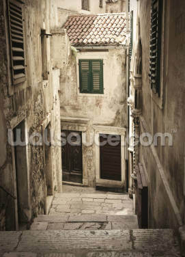Old Town Passageway Steps Wallpaper Wall Murals