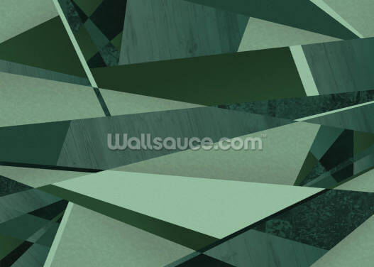 Green Abstract Forest Wallpaper Wall Murals