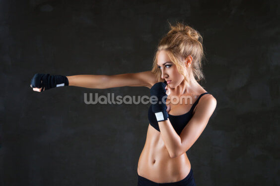 Female Boxer Wallpaper Wall Murals