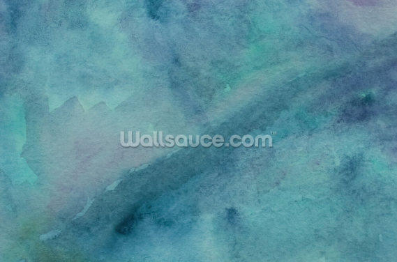 Abstract Turquoise Watercolor Wallpaper Wall Murals
