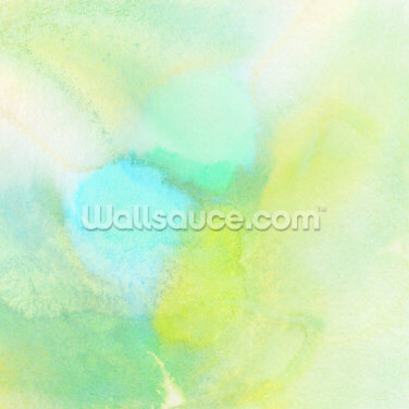 Yellow and Green Watercolor Wallpaper Wall Murals