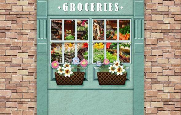 Groceries Wallpaper Wall Murals