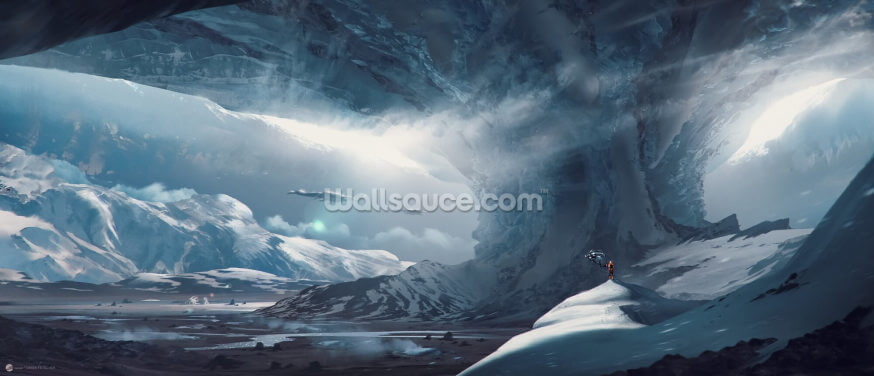 Big Game Ice Planet Wallpaper Wall Murals