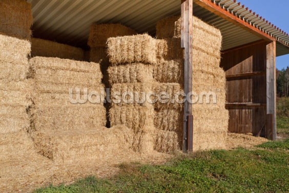 Stacked Hay Wallpaper Wall Murals
