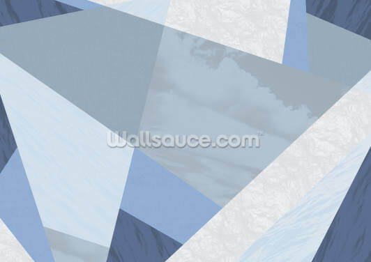 Neutral Blues Wallpaper Wall Murals