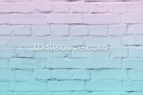 Old Brickwork Blue and Pink Mural Wallpaper Wall Murals