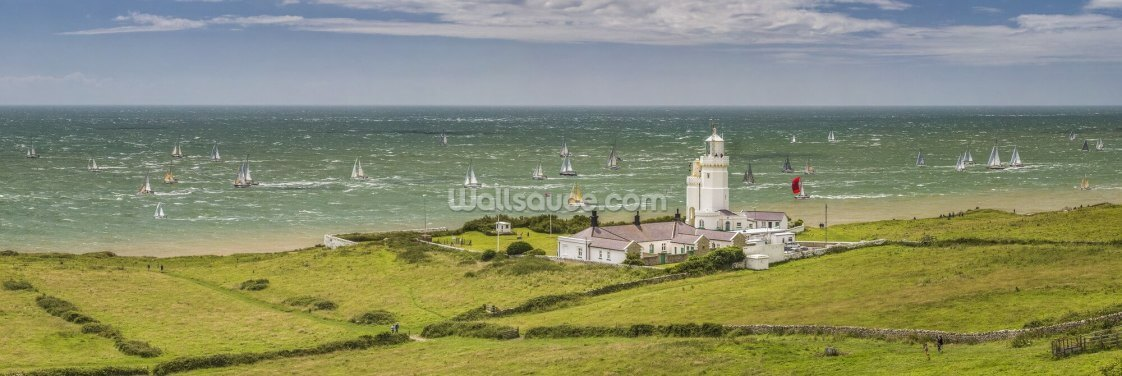 Round The Island Race St Catherine's Lighthouse Wallpaper Wall Murals