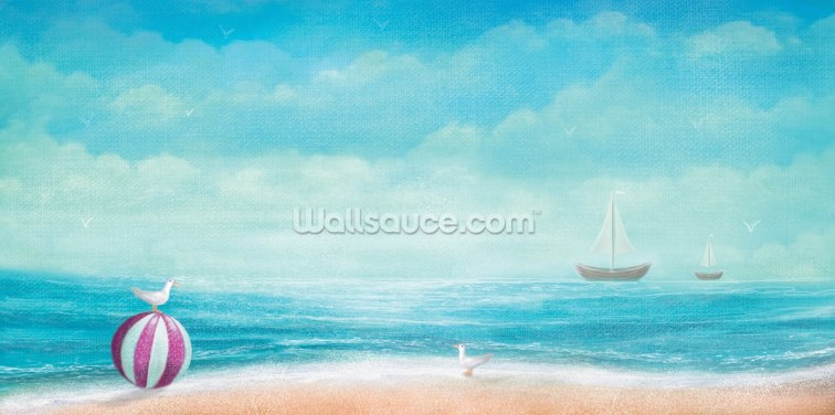 Coastal Sky 2 Wallpaper Wall Murals