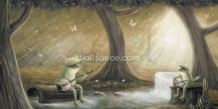 Frogs Banjo Wallpaper Wall Murals